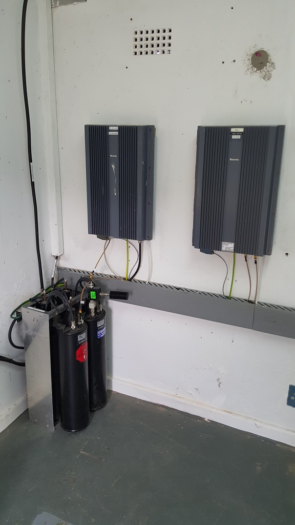 VHF duplexer with circulator, 2m repeater & 70cm link